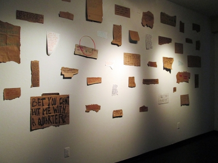 Cotton Candy and Popsicles, 2014-2015; Found object (cardboard signs) installation (dimensions variable)