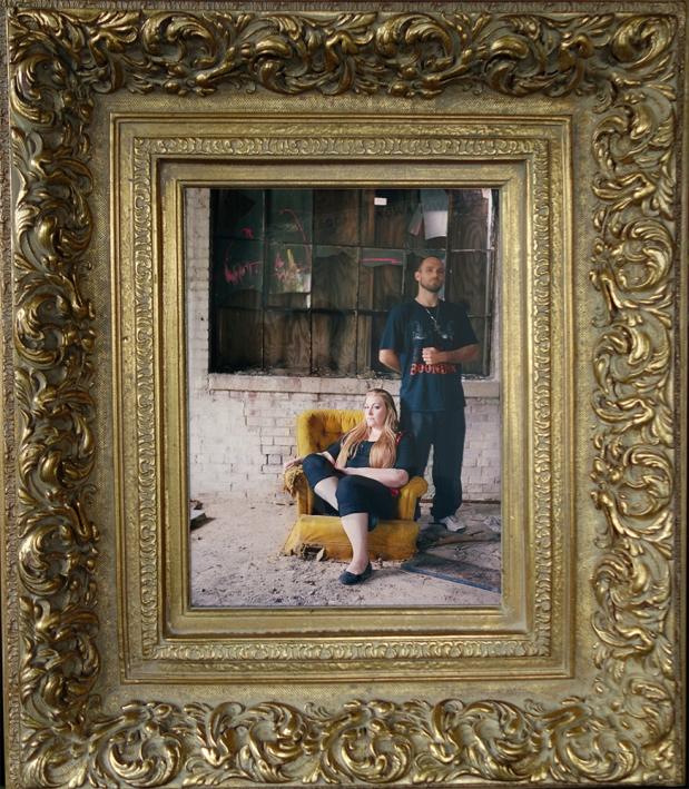 "Matriarch, 2015; Medium-format film photograph, antique gilt frame (approx 30"" x 24"" x 4"") $275"