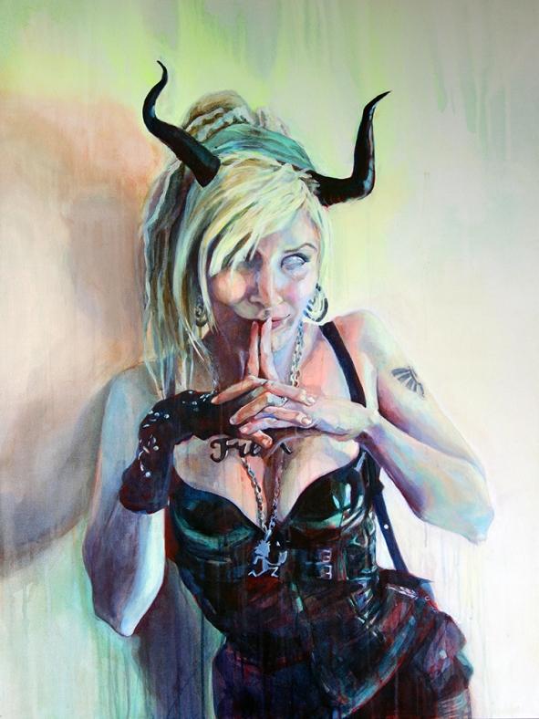 "Serenity, 2015; acrylic on canvas (40"" x 30"")"