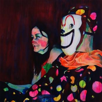 "Voodoo's Doll, 2015; acrylic on canvas (24"" x 24"")"